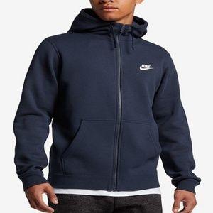 ✅ Nike Men's Fleece Zip Hoodie 804389-451 NWT